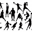 Silhouettes of Basketball Players — Stock Vector #41241403