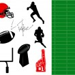 Football Elements — Vector de stock