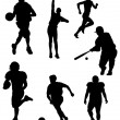 Sports Silhouettes — Stock Vector