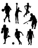 Silhouettes de sport — Vecteur
