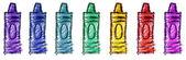 Children's Crayons — Foto Stock