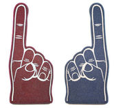 Foam Finger Rivals — Stock Photo