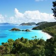 Aerial view of Trunk Bay, St. John, U.S. Virgin Islands — Stock Photo