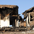 Stock Photo: Home destroyed by fire