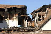 Home destroyed by fire — Stock Photo