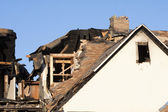 Home damaged by fire — Stock Photo