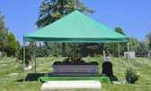 Cemetery Burial Funeral Casket — Stock Photo