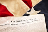 Declaration of Independence (Selective Focus) — Stock Photo