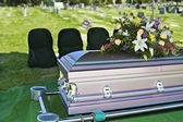 Funeral Casket — Stock Photo