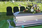 Funeral Casket — Stock Photo