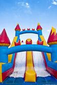 Children's Inflatable Playground — Stock Photo