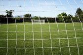 Soccer Goal Netting — Stock Photo