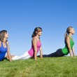 Women Stretching and Doing Yoga — Stock Photo