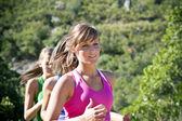 Female Jogger running — Photo