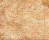 Old Topographical Map — Stock Photo