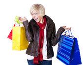 Kvinnliga shopper — Stockfoto