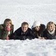 Stock Photo: Young adults in Snow