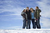 People standing on the snow — Stock Photo