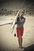 Atletik sörfçü — Stok fotoğraf