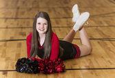 Young Teen Cheerleader Portrait — Stock Photo
