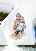Family at a waterpark — Stock Photo