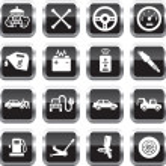 Car service icons — Stock Vector
