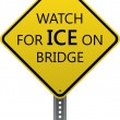 Watch for ice — Stock Vector