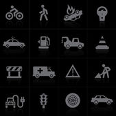 Traffic application icons — Stock Vector