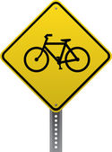 Bicycle crossing sign — Stock Vector