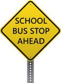 学校バス停の先に署名 — ストックベクタ