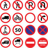 Road restriction signs — Stock Vector