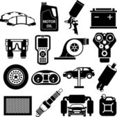 Car service icons black — Stock Vector