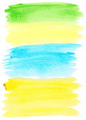Abstract colorful watercolor brush strokes — Stock Photo