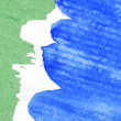 Royalty-Free Stock Photo: Abstract green, white and blue watercolor background
