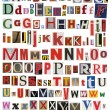 Stock Photo: Colorful, newspaper, magazine alphabet