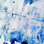 Abstract watercolor painting with collage paper texture — Stock Photo