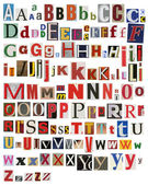 Colorful, newspaper, magazine alphabet — Stock Photo