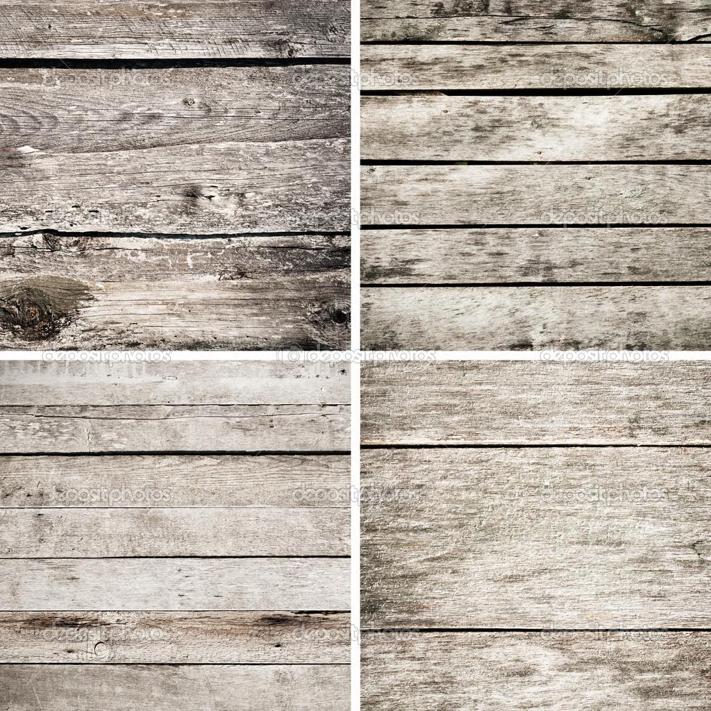 Impostare texture di assi di legno sgangherata vecchio — Foto Stock ...