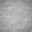 Cinder block wall background, brick texture — Stock Photo