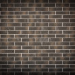 New dark brick wall background — Stock Photo