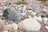 Gravel road stones and sand — Stock Photo