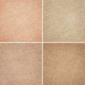 Set of brown fabric texture — Stock Photo