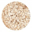 Round buckwheat cracker is isolated on a white background — Stock Photo