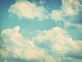 Blue sky, clouds and sun light background — Stock Photo