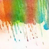Tratti di pennello acquerello dipinto astratto — Foto Stock