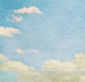 Sky and clouds on watercolor background — Stock Photo