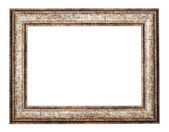 Vintage classical metal frame is isolated on white background — Stock Photo
