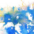 Stock Photo: Abstract colorful stain, splash, watercolor background with spac
