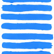 Stock Photo: Set of blue watercolor brush strokes