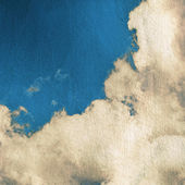 Sky and clouds, grunge scratched background — Stock Photo